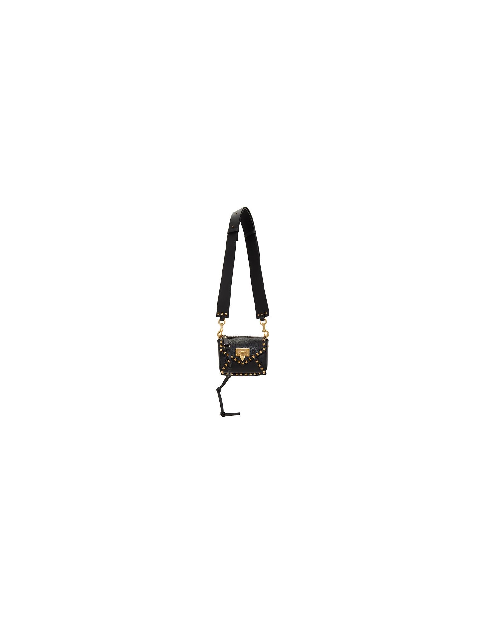 Valentino Designer Handbags, Black Valentino Garavani Small Rockstud Hype Bag