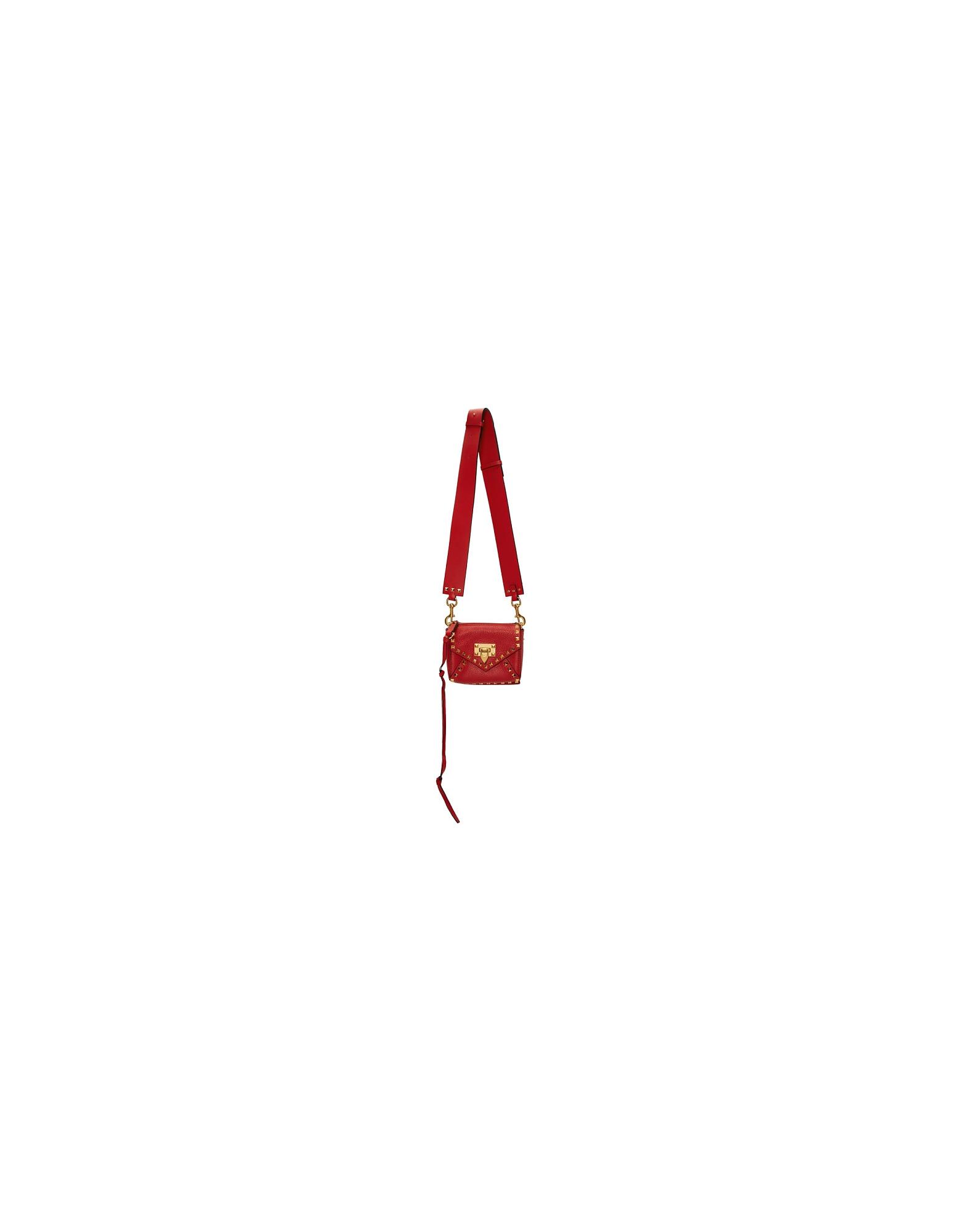 Valentino Designer Handbags, Red Valentino Garavani Small Rockstud Hype Bag