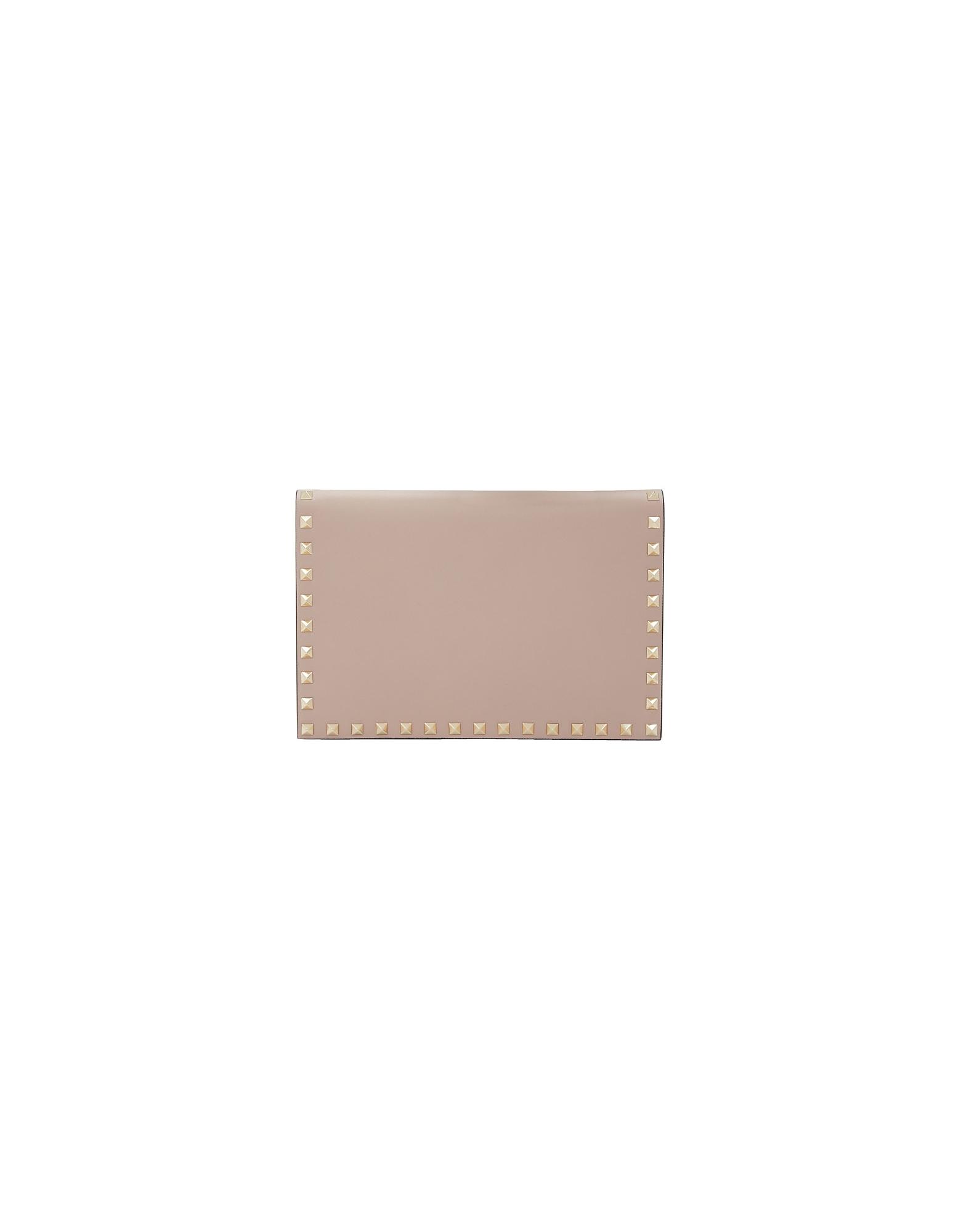 Valentino Designer Handbags, Pink Valentino Garavani Rockstud Wallet Pouch