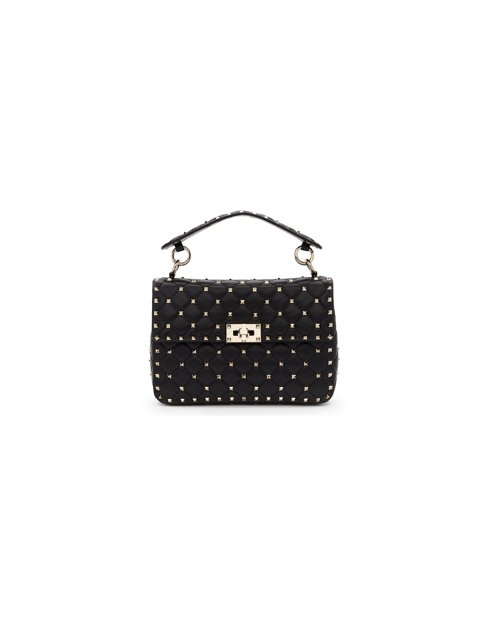 Valentino Designer Handbags, Black Valentino Garavani Medium Rockstud Spike Bag