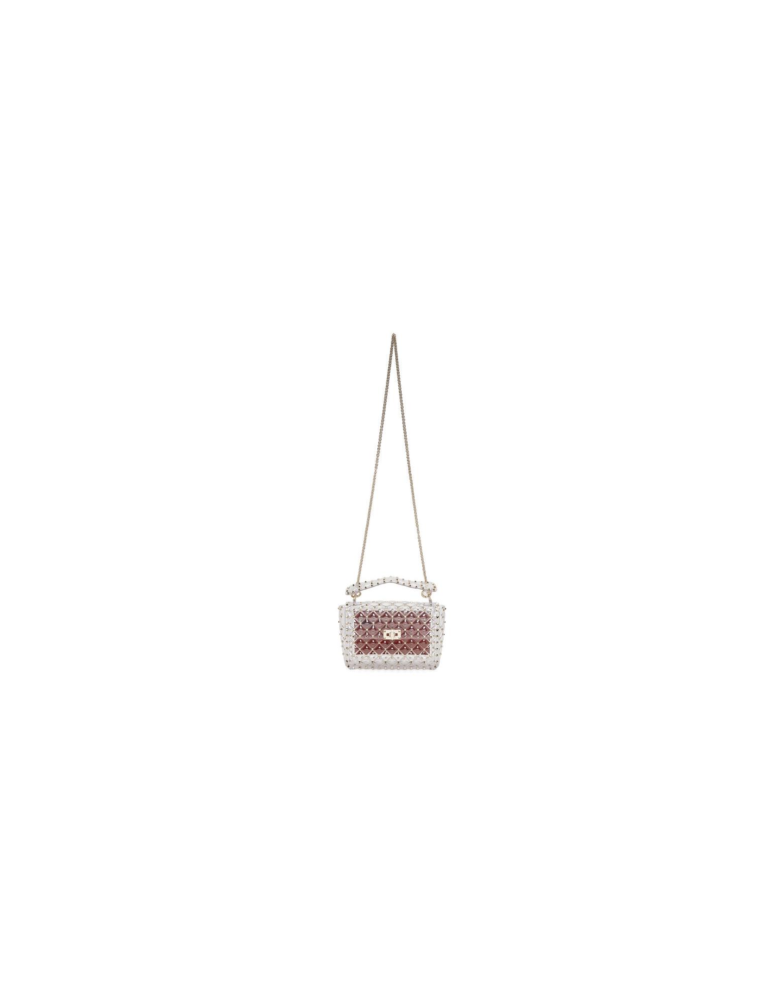 Valentino Designer Handbags, Transparent Valentino Garavani Plexi Medium Rockstud Spike Bag