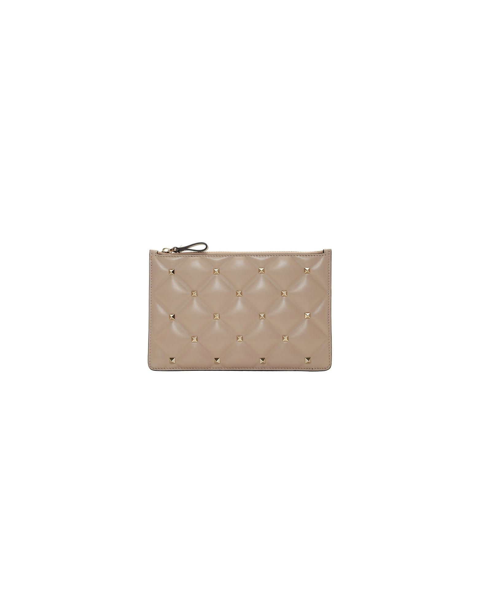 Valentino Designer Handbags, Pink Valentino Garavani Medium Candystud Pouch