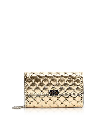 Quilted Leather Rockstud Spike Chain Bag