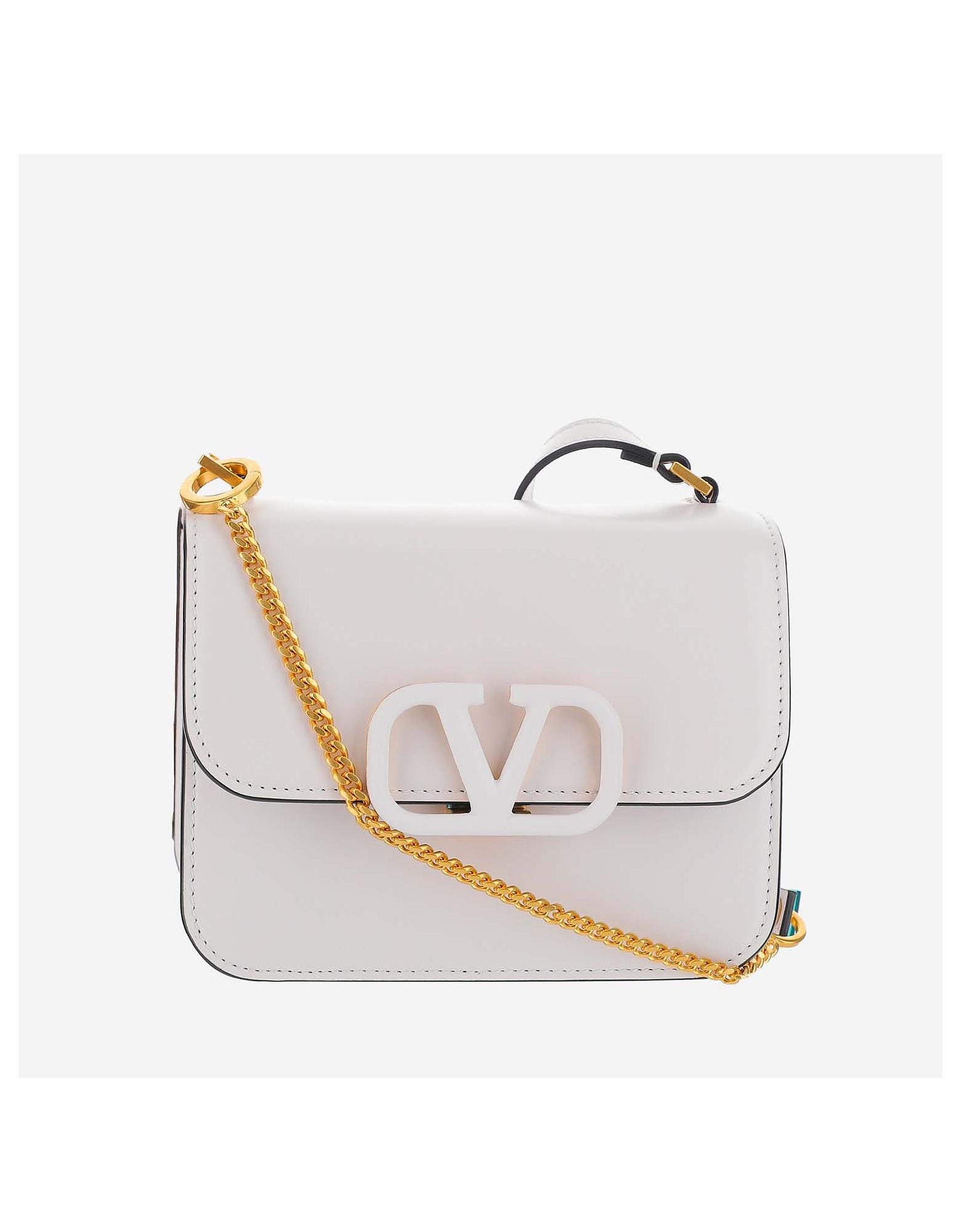 Valentino Designer Handbags, White shoulder