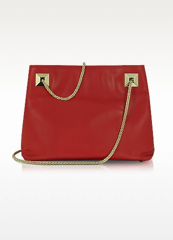 Red Leather Shoulder Bag - Valentino