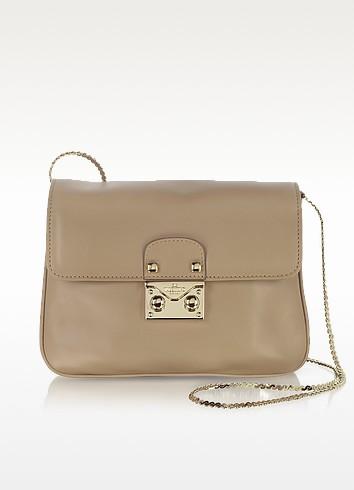 Blush Leather Shoulder Bag - Valentino