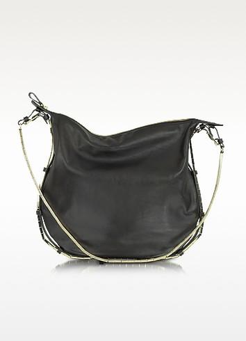 Nappa Leather and Metal Hobo Bag - Valentino