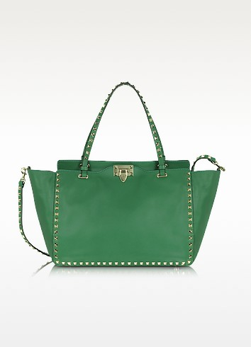 Pop Rockstud - Nappa Leather Tote Bag - Valentino