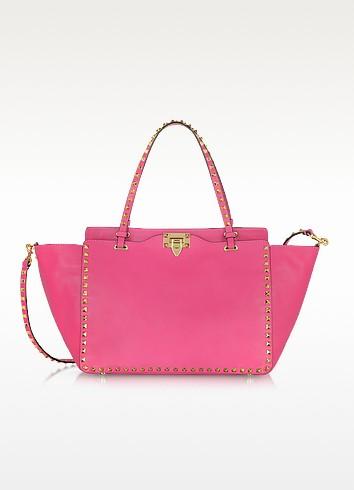 Pop Rockstud - Nappa Leather Tote Bag - Valentino