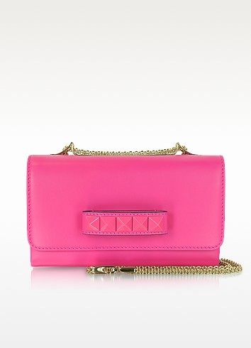 Pop Rockstud Leather Shoulder Bag - Valentino