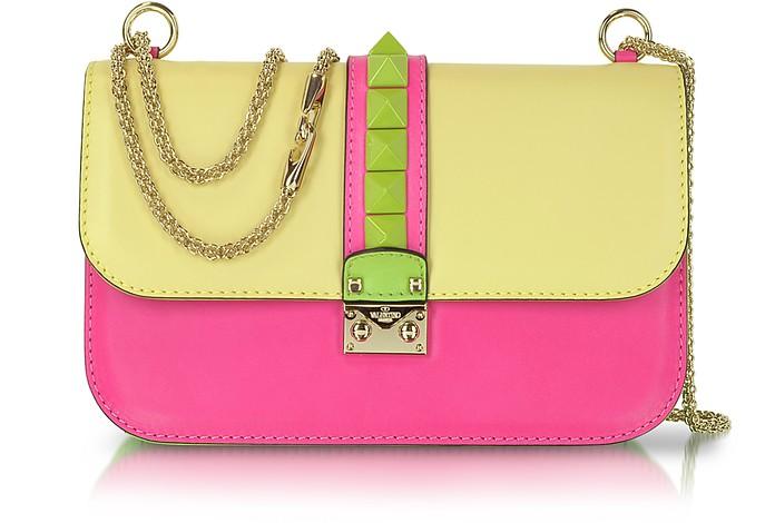 Pop Rockstud - Multicolor Calfskin Shoulder Bag - Valentino