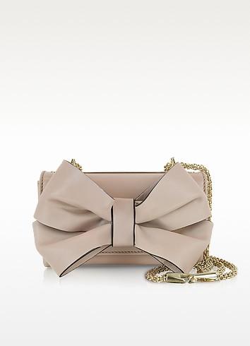 ヴァレンティノ Valentino Blush レザー ショルダー Bag w/Bow ショルダー bags