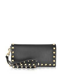 Black Leather Flap Wallet - Valentino