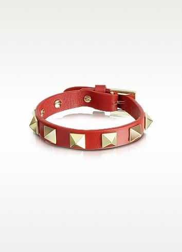 Rockstud Slim Leather Bracelet - Valentino