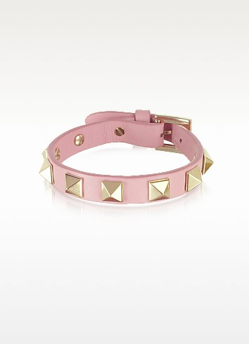 Pop Rockstud Leather Bracelet - Valentino