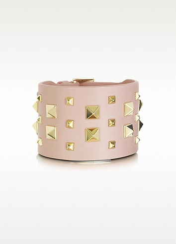 Rockstud Double Leather Bracelet - Valentino