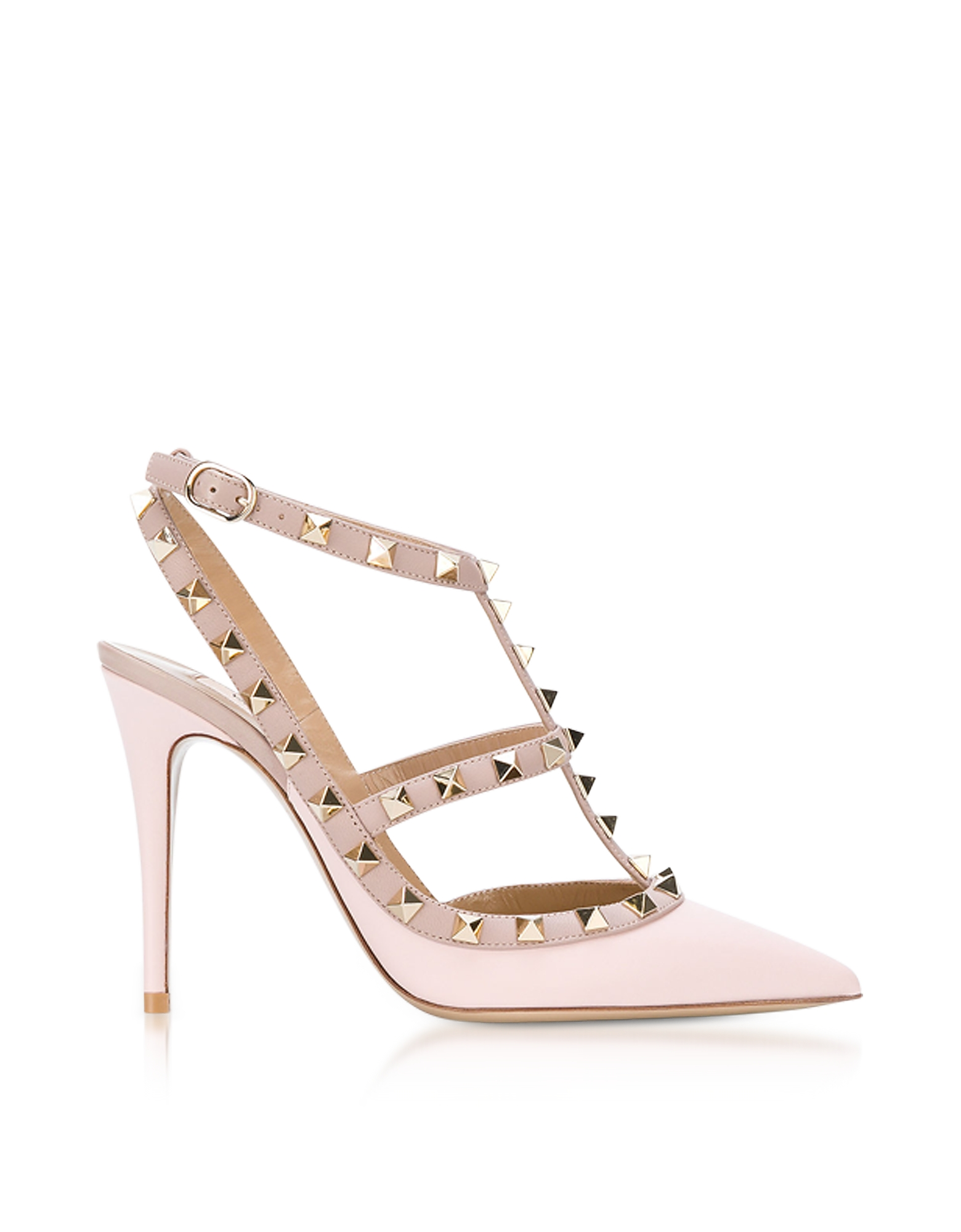 Valentino Shoes, Pink Rockstud Ankle Strap Pump