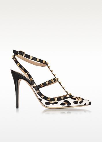 Rockstud Leopard Print Slingback - Valentino