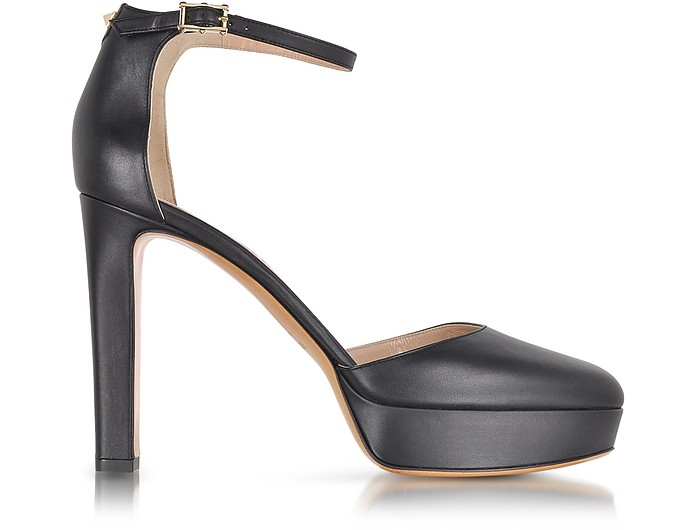Ankle Strap Pump in Black Leather - Valentino