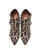 Rockstud Animal Print Haircalf Ankle Boot - Valentino