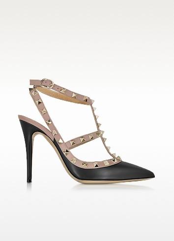Rockstud Noir Ankle Strap Pump - Valentino