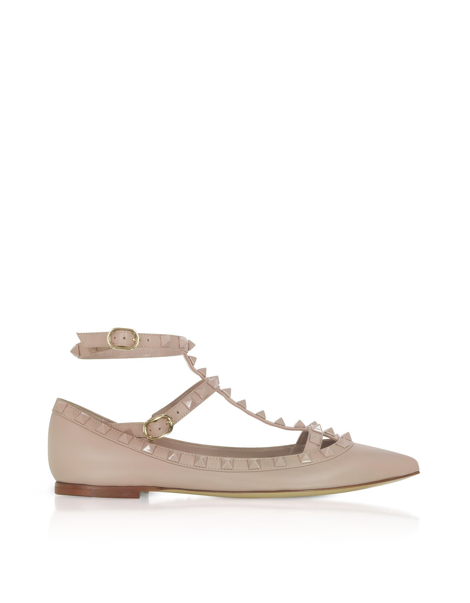 Valentino Shoes, Powder Pink Rockstud Ballerinas