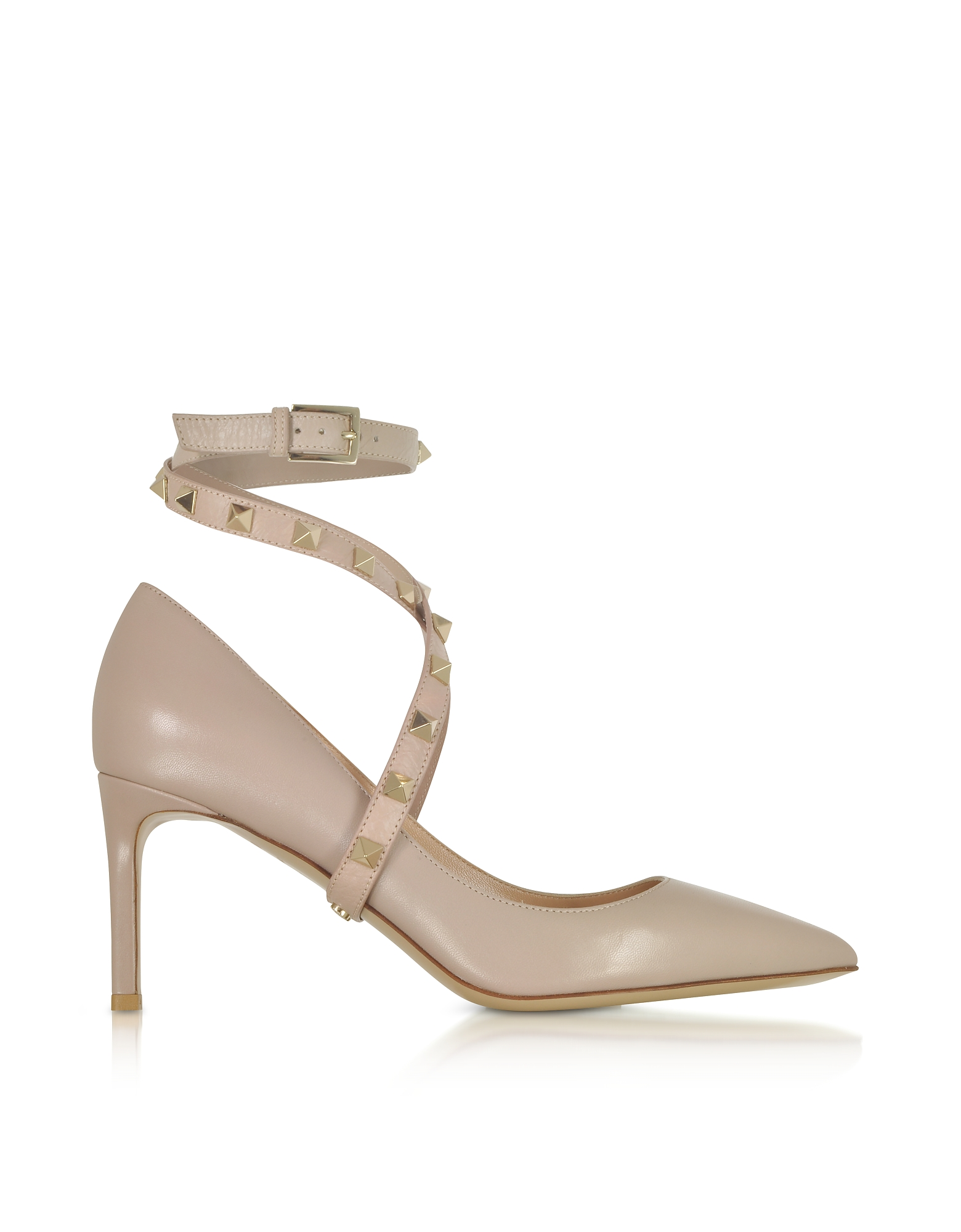 Valentino Shoes, Powder Pink Studwrap Pumps