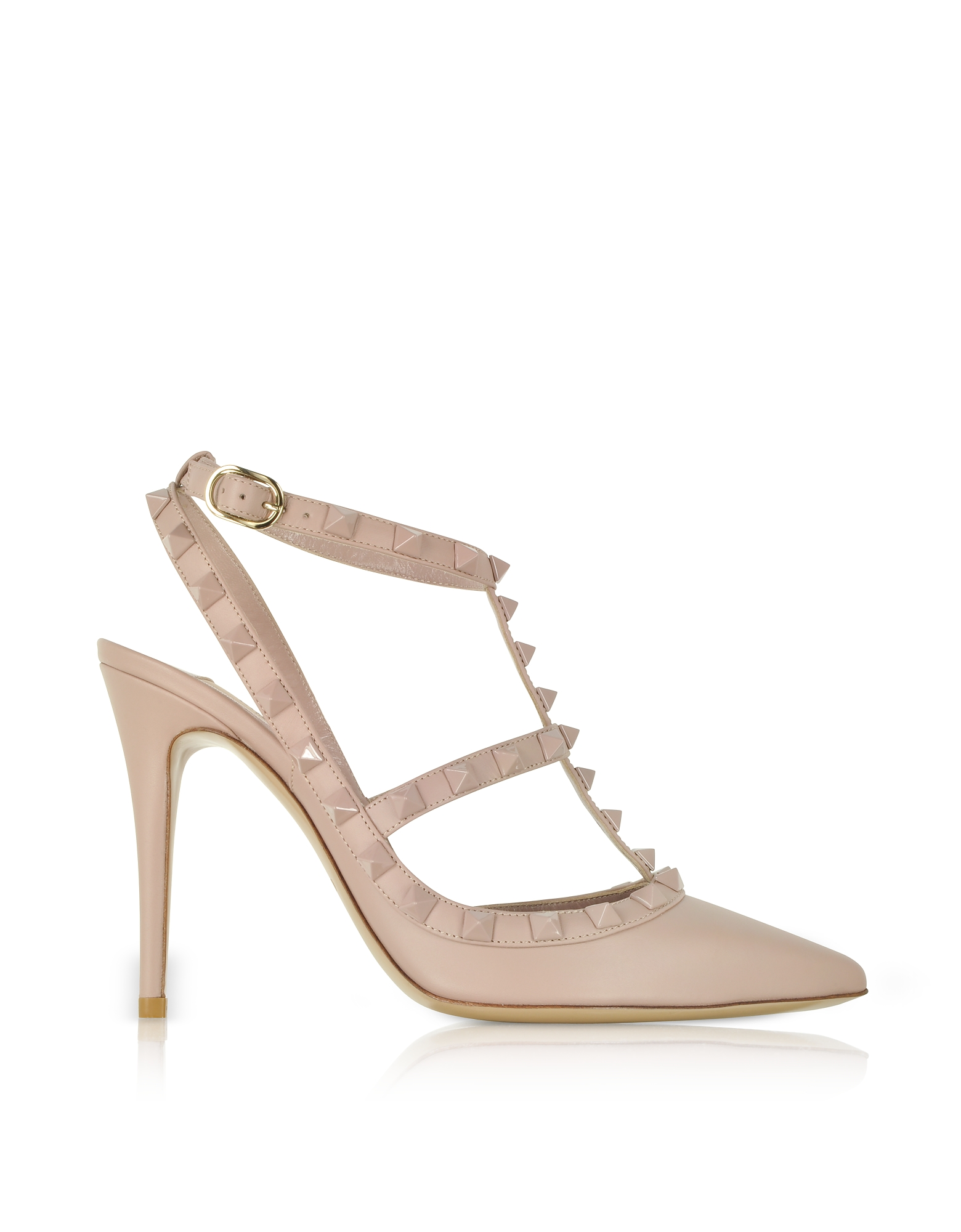 Valentino Shoes, Poudre Leather Rockstud Pumps