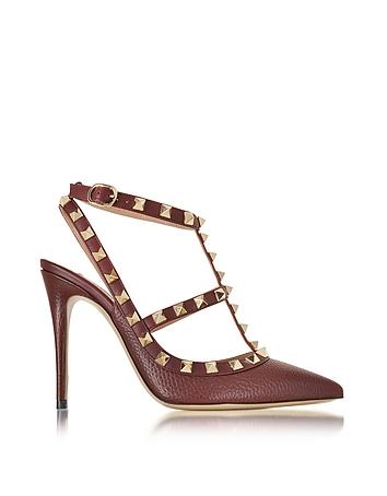 Rockstud Rubin Deer Leather Ankle Strap Sandal
