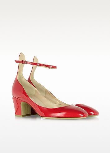 Tango Red Patent Leather Pump - Valentino