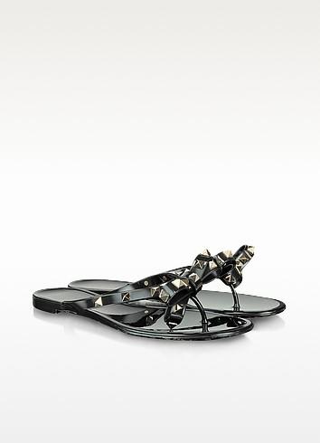 Rockstud Black Flip Flop - Valentino