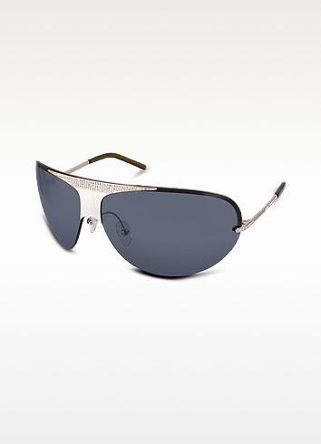 Crystal Decorated Rimless Sunglasses - Valentino