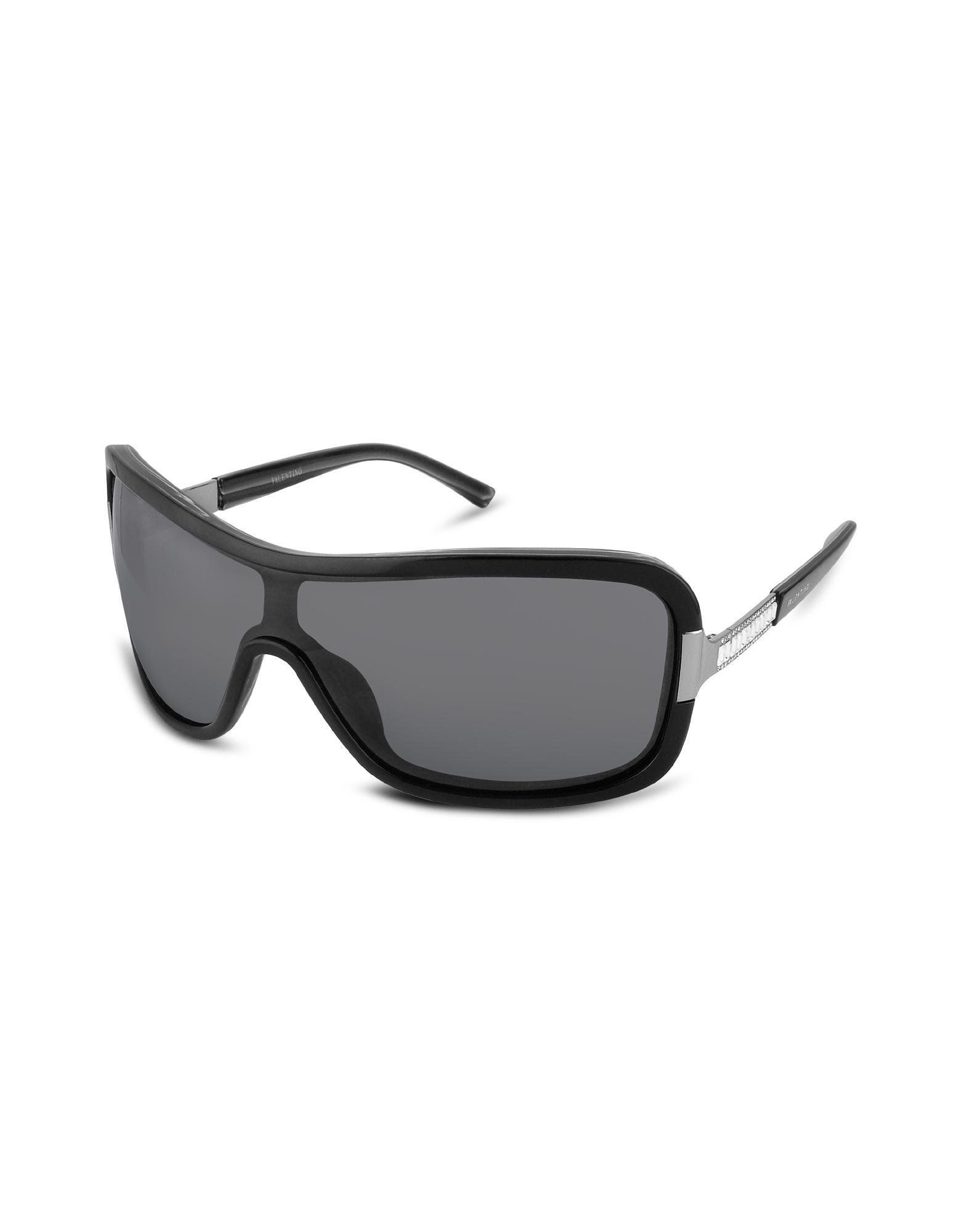 Valentino Garavani Swarovski Temple Signature Shield Sunglasses