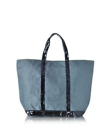 Vanessa Bruno - Les Cabas Medium Cotton and Sequins Tote