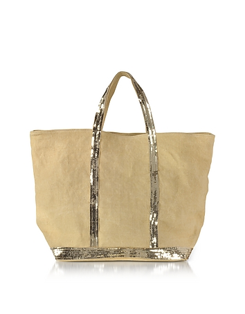 Vanessa Bruno - Les Cabas Medium Linen and Sequins Tote