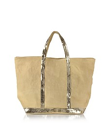 Les Cabas Medium Linen and Sequins Tote - Vanessa Bruno