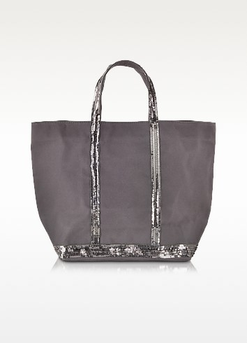 Le Cabas Medium Canvas Tote with Sequins - Vanessa Bruno