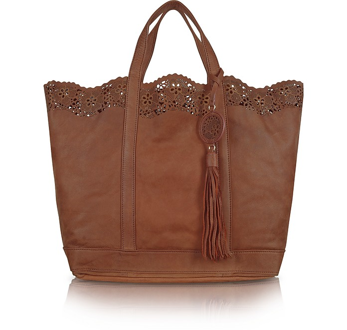 Large Laser Trim Leather Tote - Vanessa Bruno