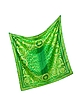 Green Animal Print Twill Silk Square Scarf - Versace