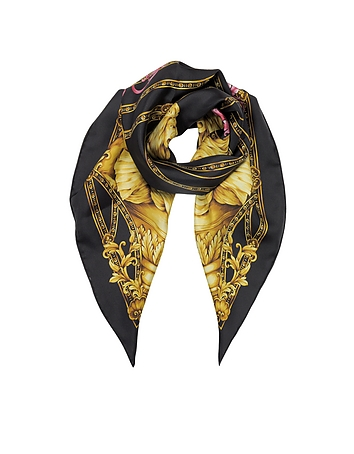 Versace - Heritage Ganimede Twill Silk Square Scarf