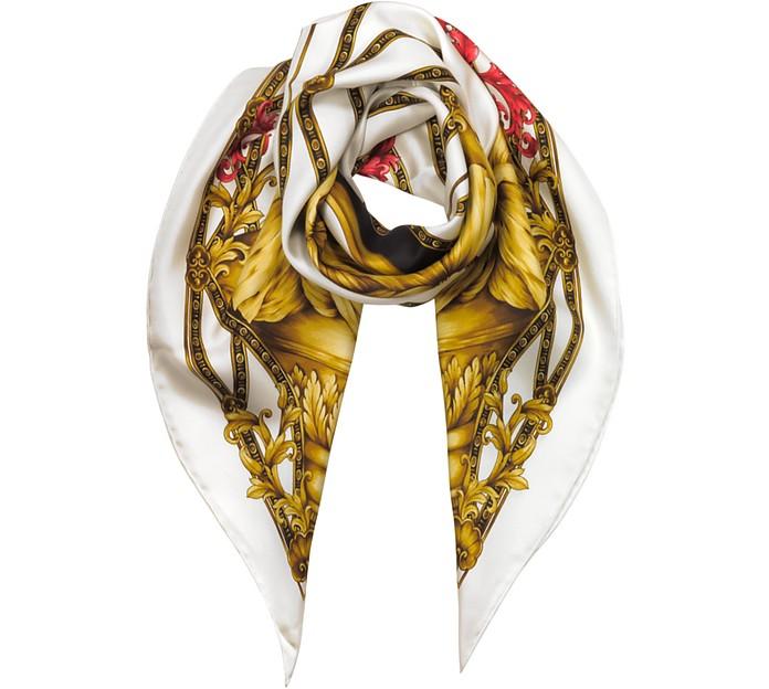 Heritage Ganimede Twill Silk Square Scarf - Versace