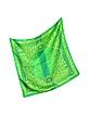 Green Leopard Baroque Print Twill Silk Bandana - Versace