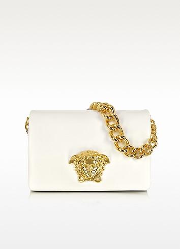 Idol Schultertasche in weiß mit Logo  - Versace