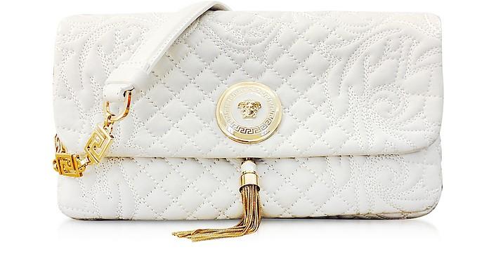 White Vanitas Calliope Leather Shoulder Bag - Versace