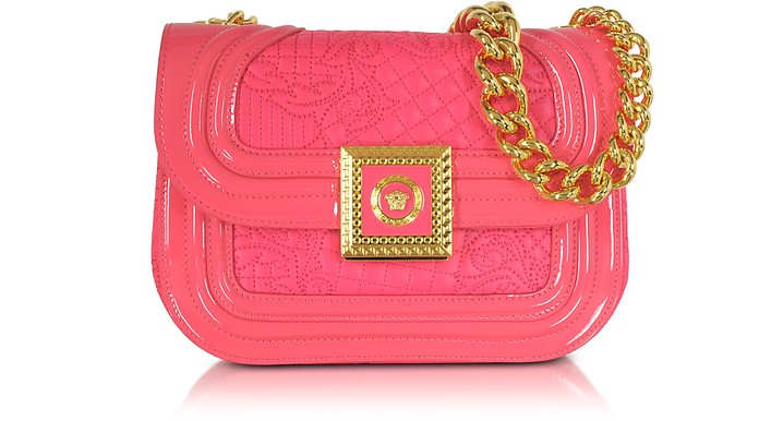 Strawberry Quilted and Patent Leather Micro Vanitas Shoulder Bag - Versace