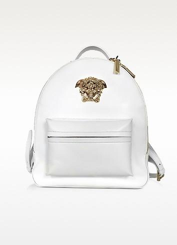 Medusa Palazzo White Nappa Leather Backpack - Versace