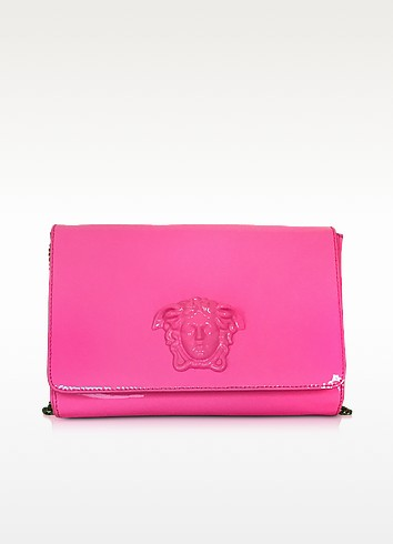 Palazzo Pink Patent Leather Crossbody Bag - Versace
