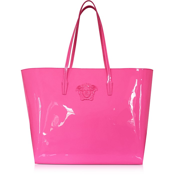 Pink Patent Leather Tote Bag - Versace