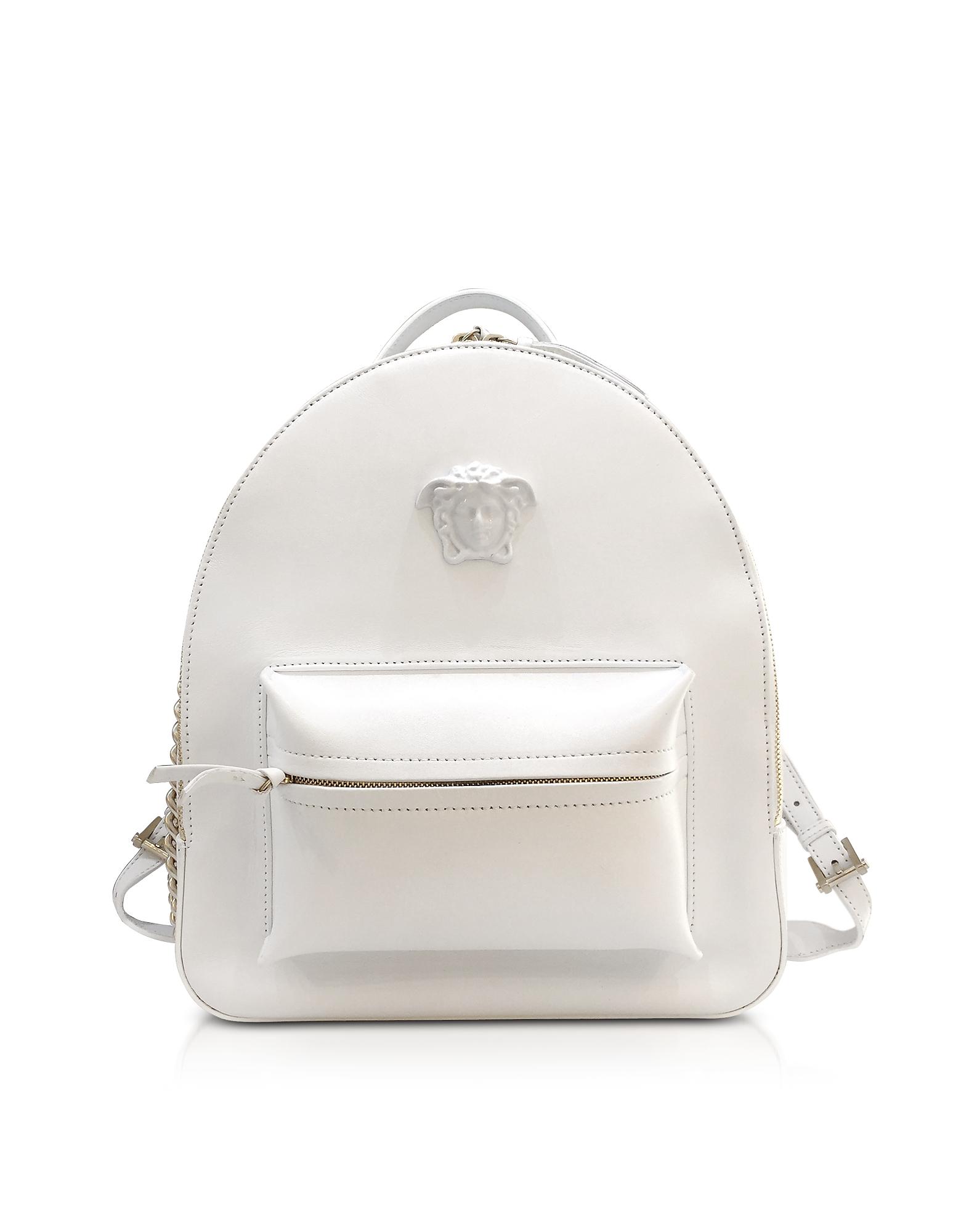 Фото Palazzo - Белый Рюкзак из Кожи Наппа. Купить с доставкой