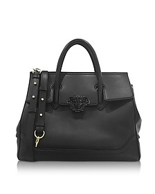 Palazzo Empire Black Leather Large Handbag - Versace